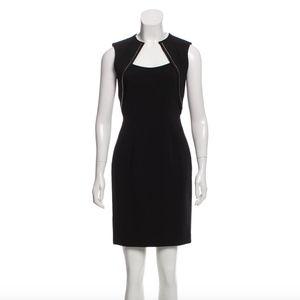 EUC Black Stretch Dress with Sexy Zipper Accents
